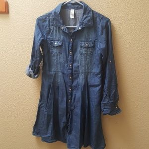 Justic blue denim dress